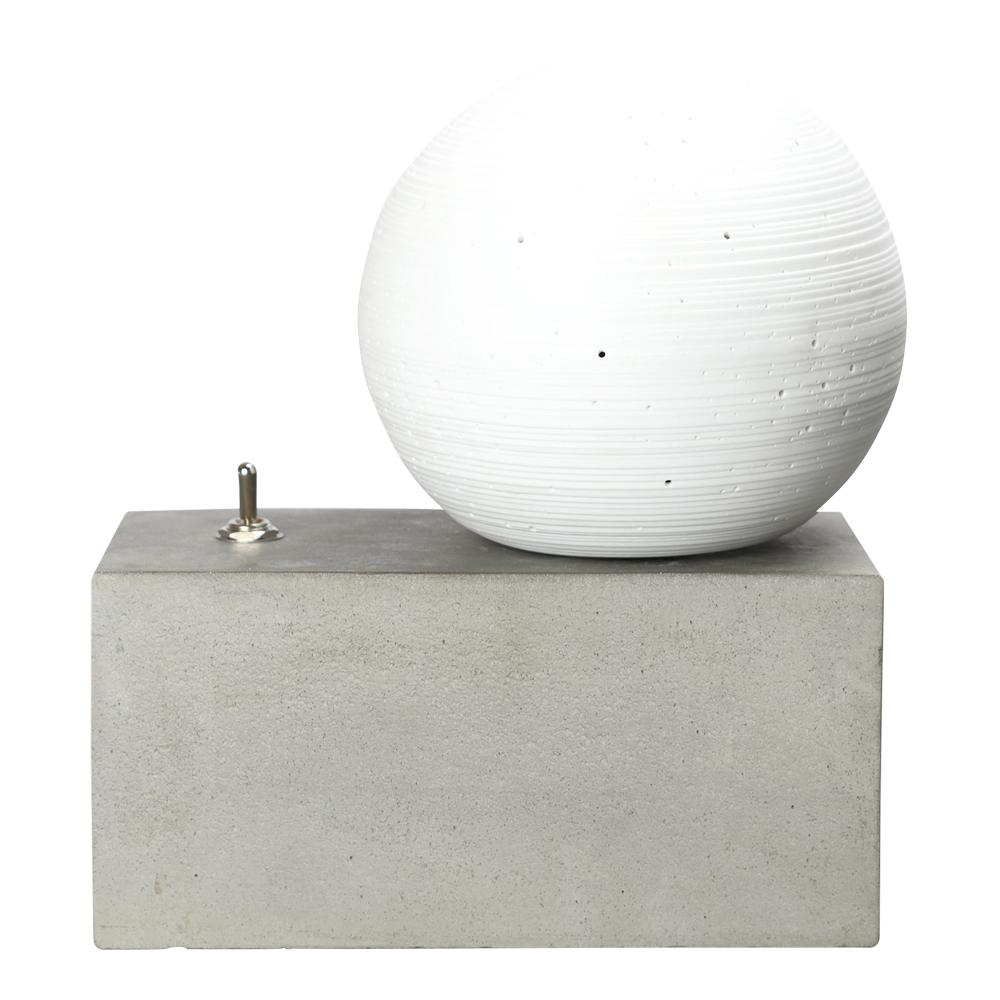 Concrete Bordslampa 22x23 cm Betong/Glob