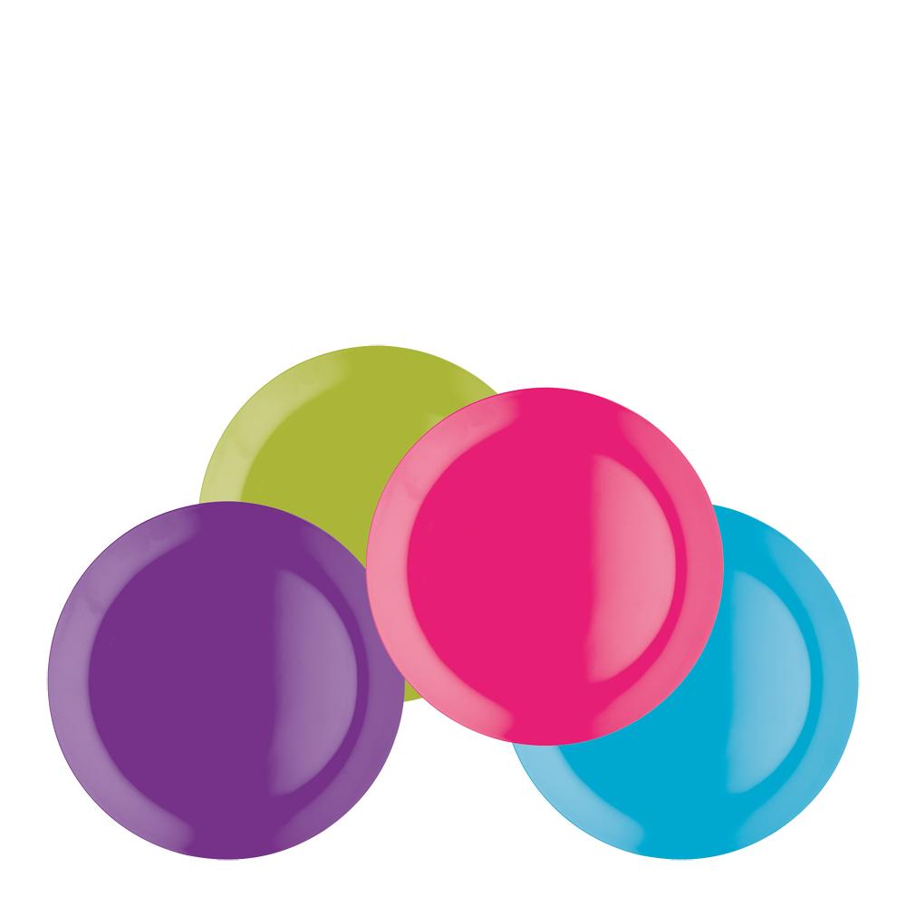 Colourworks Tallrik 4-pack Melamin