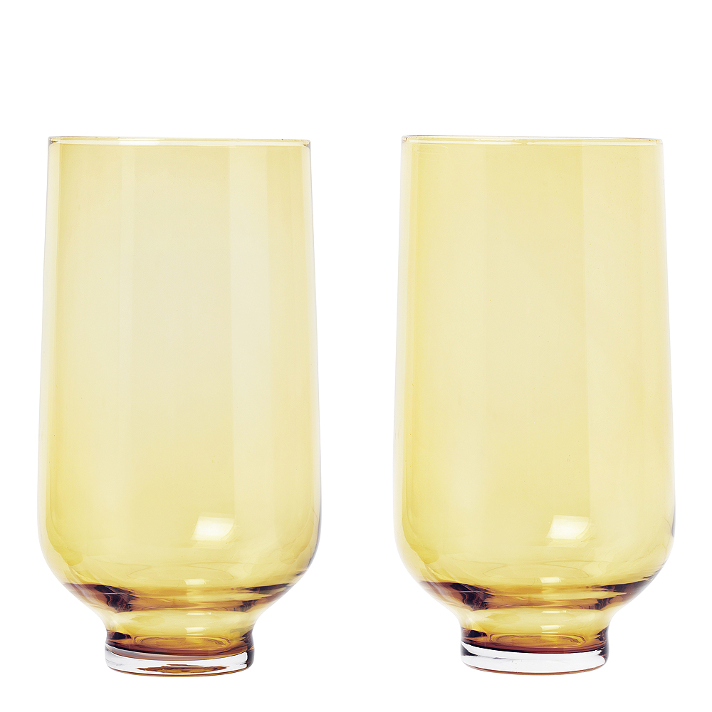 Flow Tumblerglas 40 cl 2-pack Dull Gold