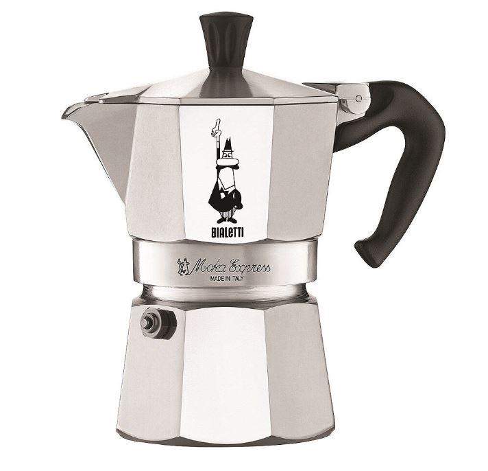 Moka Kaffekokare 3 koppar Rostfri