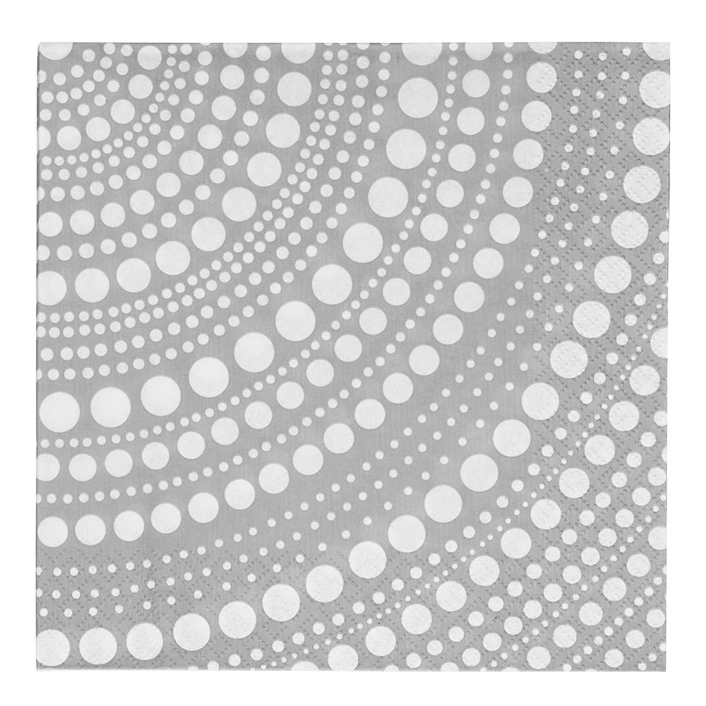 Kastehelmi Servett 33x33 cm Ljusgrå 20-pack