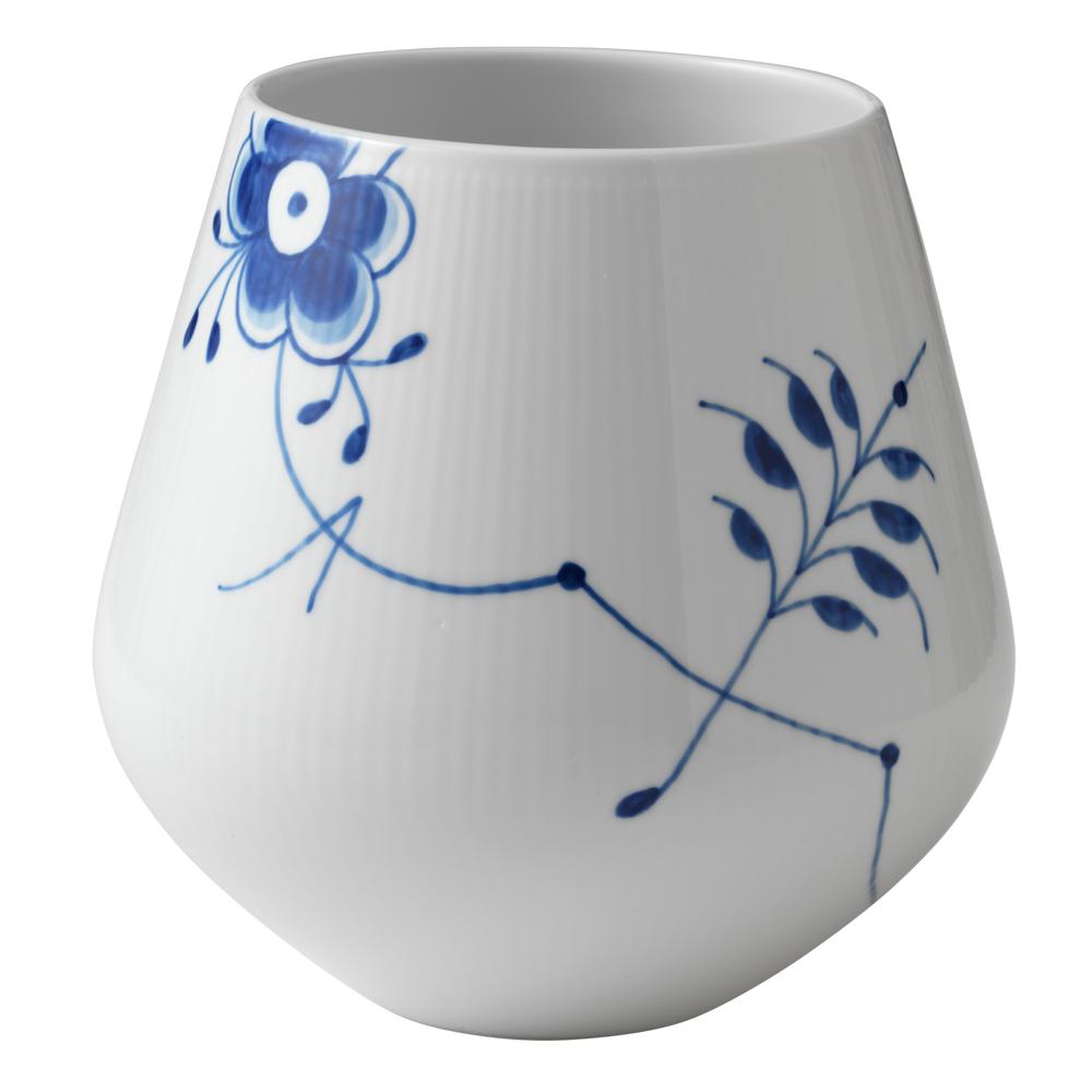Blue Fluted Mega Vas 20,5 cm