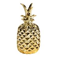 Pineapple Ananas med lock 18 cm Guld