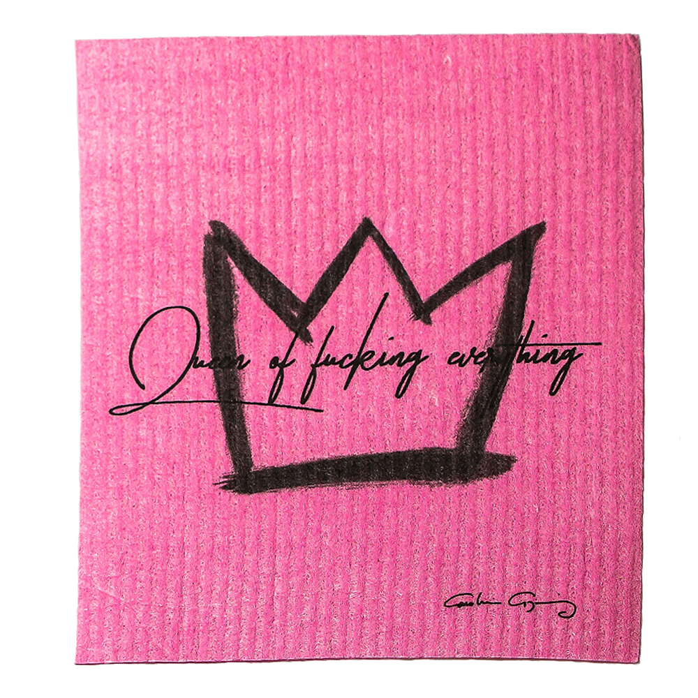 Disktrasa Queen of Fucking Everything 17×20 cm Rosa