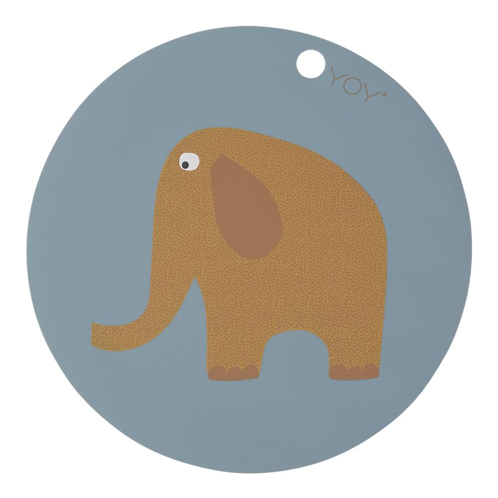 Tablett Mini 39 cm Elefant Turmalin