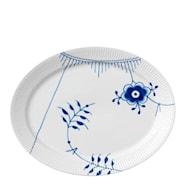 Blue Fluted Mega Fat 34,5 cm ovalt dekor nr 2