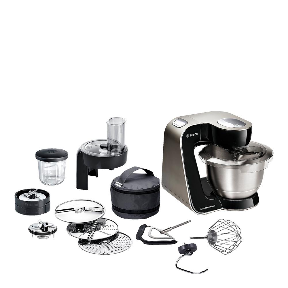 Home Professional Köksmaskin med tillbehör Svart/borstat stål