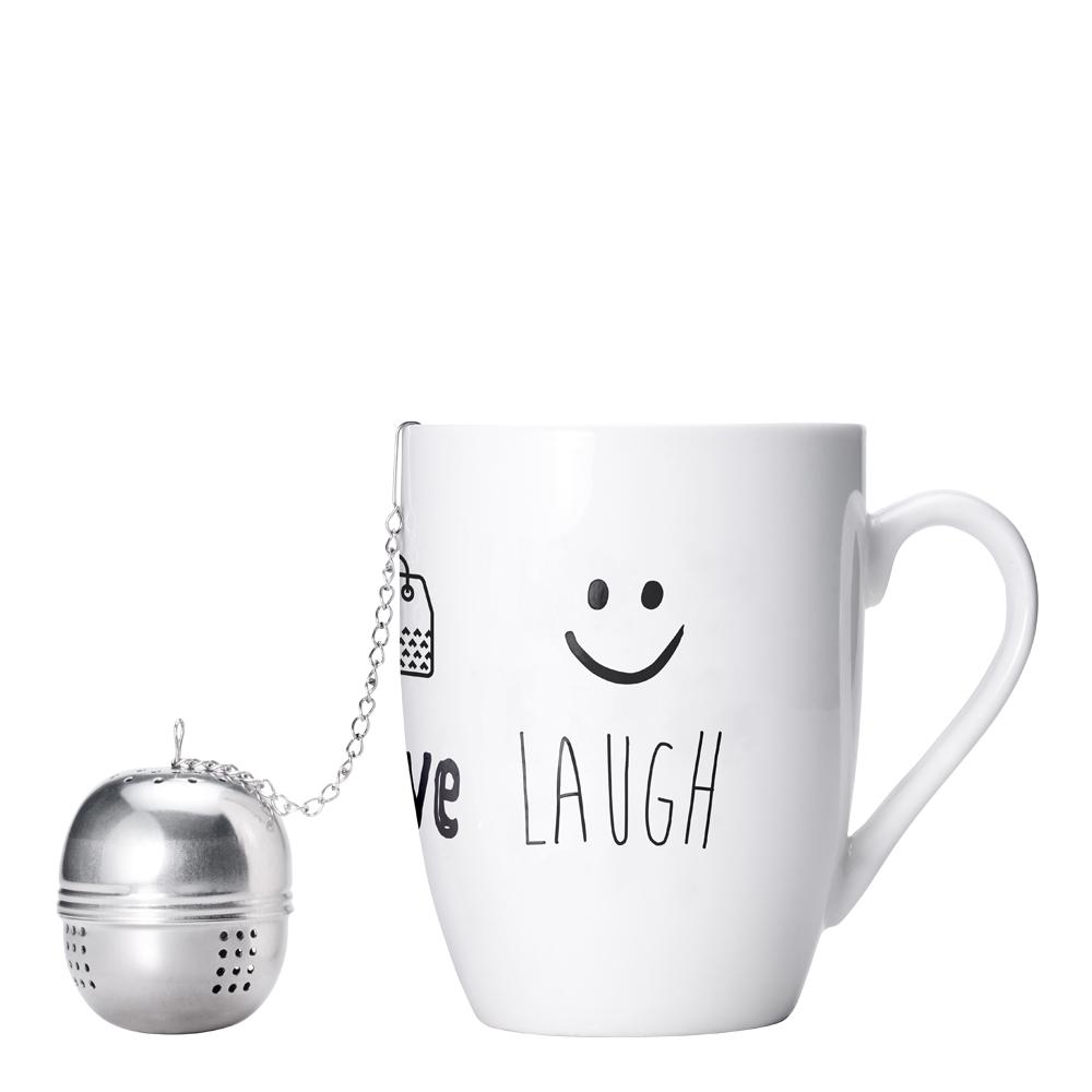 Mugg 34 cl med tesil Laught