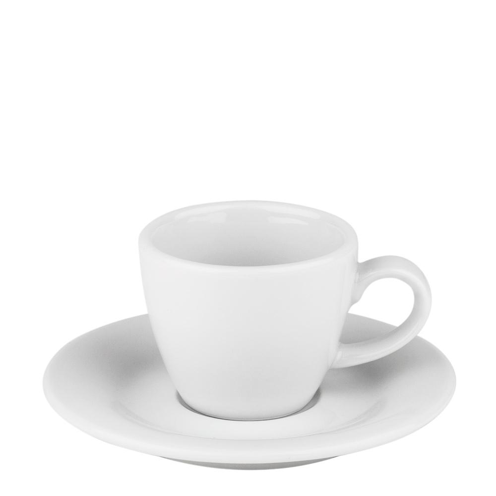 Blues Espressokopp med fat Vit Vit
