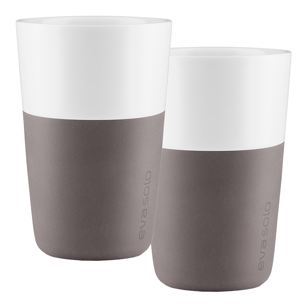 Caffelattemugg Elephant Grey 2-pack