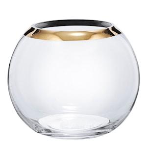 Celebration Vas rund 17 cm guldkant