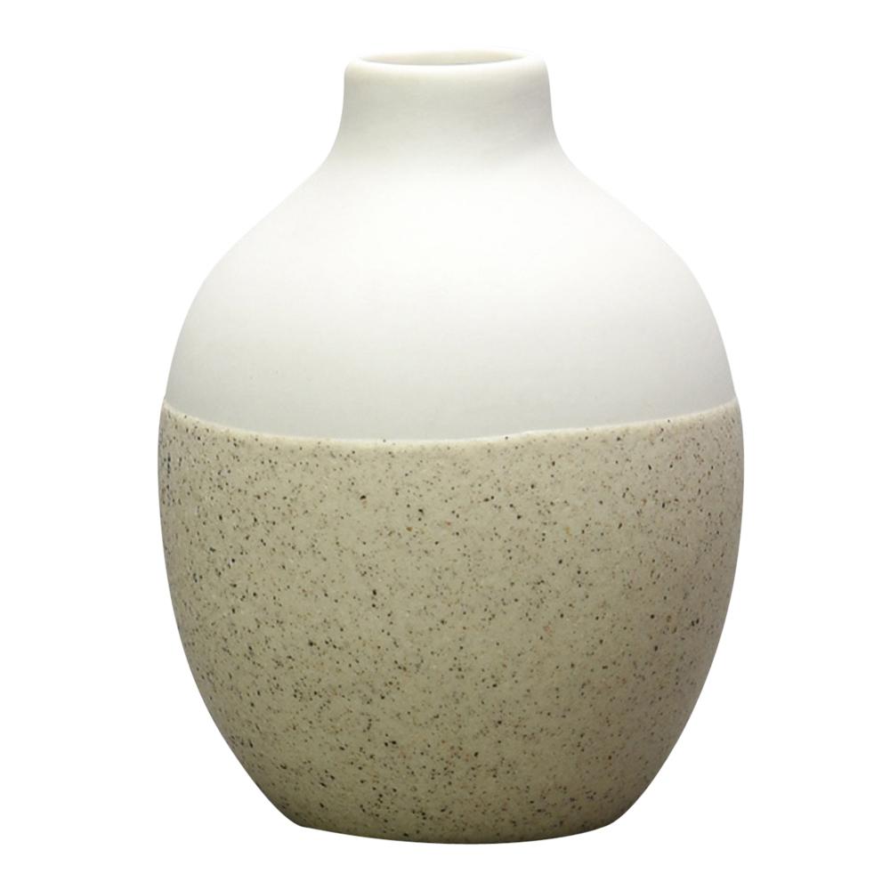Geometru Vas Creme Keramik 7,5x9 cm