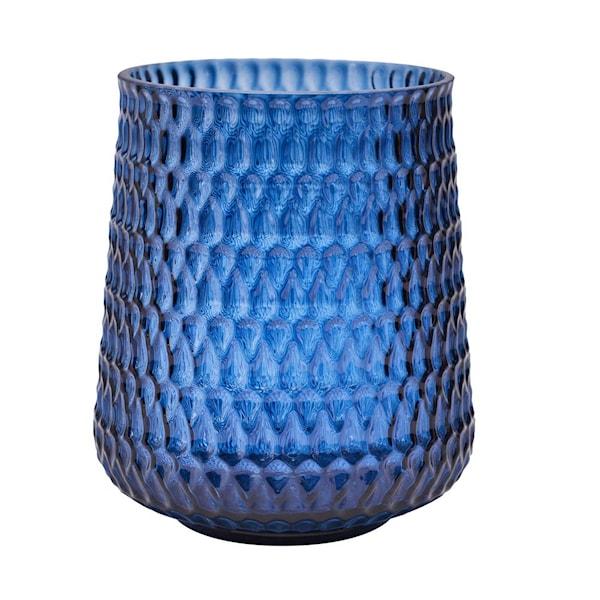 Adamo Vas/Ljushållare 18 cm Blå Glas