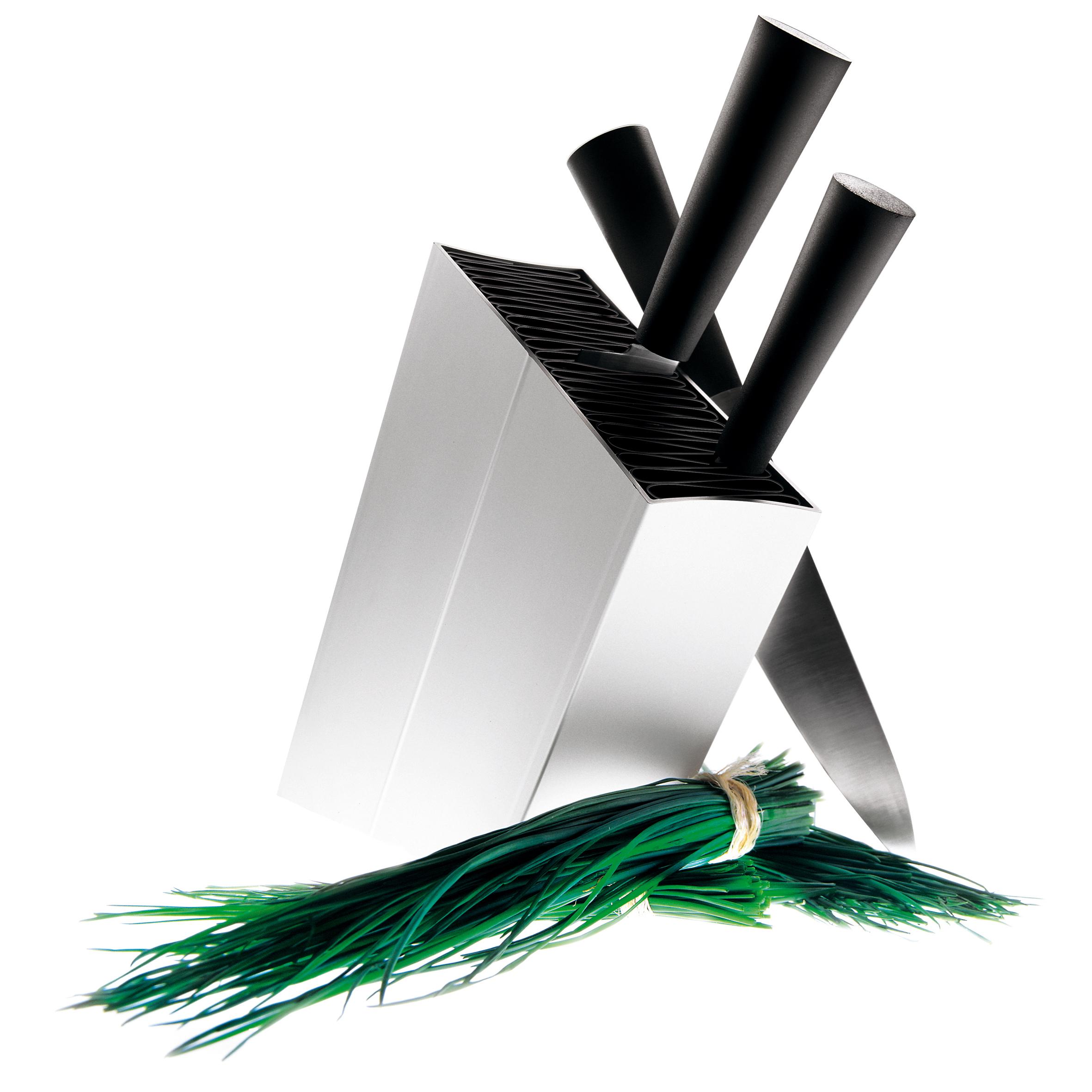 Knivblock lutande Aluminum