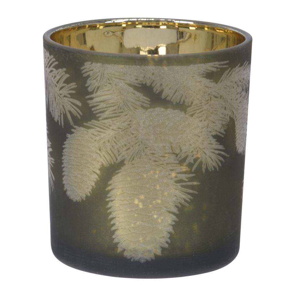 Amedo Ljushållare Kottar 8 cm Grön/Guld