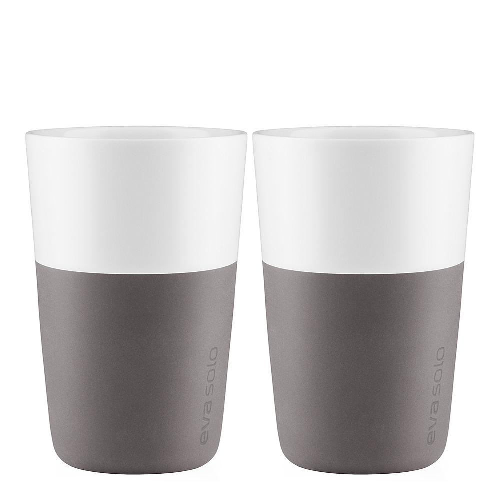Caffe Lattemugg 36 cl 2-pack Elephant Grey