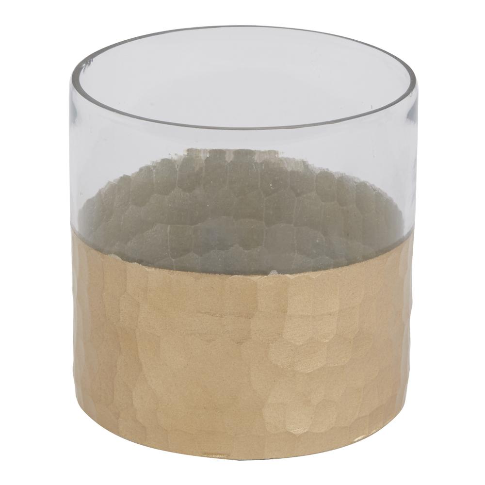 Tibor Ljushållare 10x10 cm Glas/guld