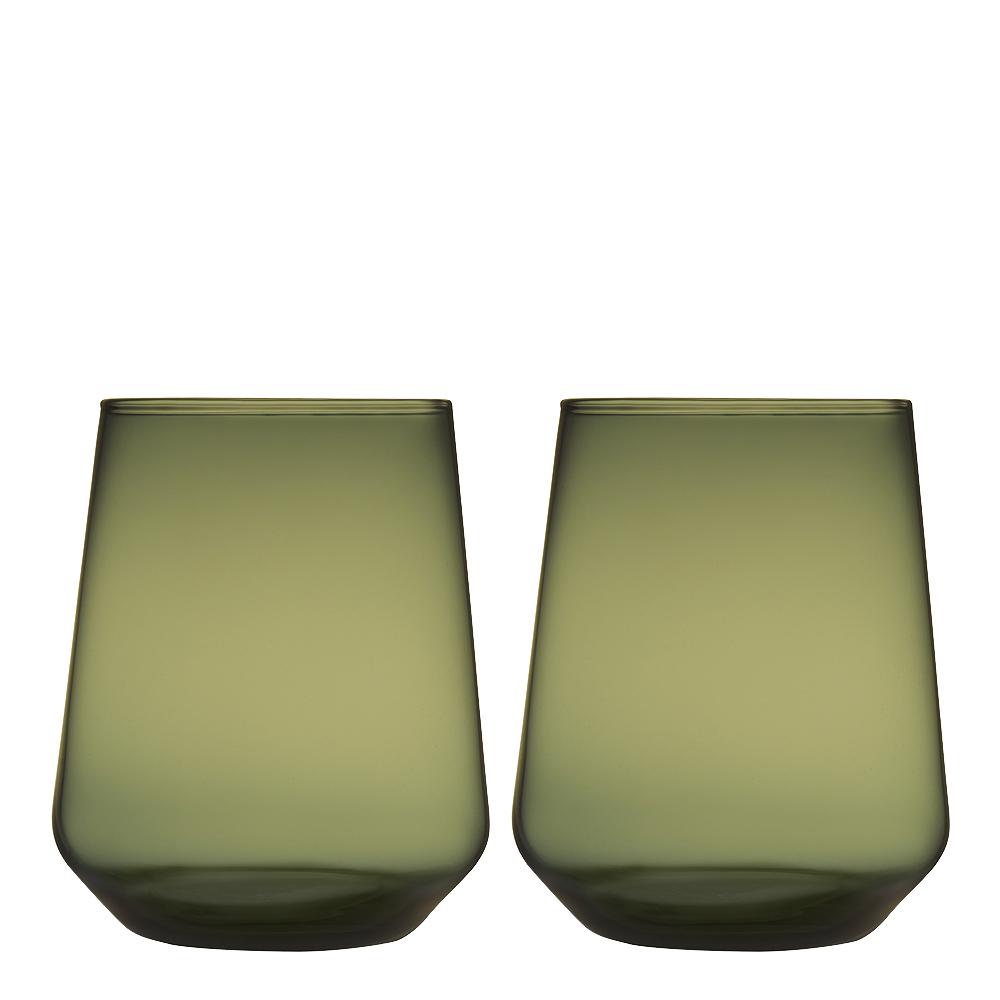 Essence Glas 35 cl 2-pack Mossgrön