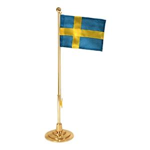 Bordsflagga förgylld 39 cm