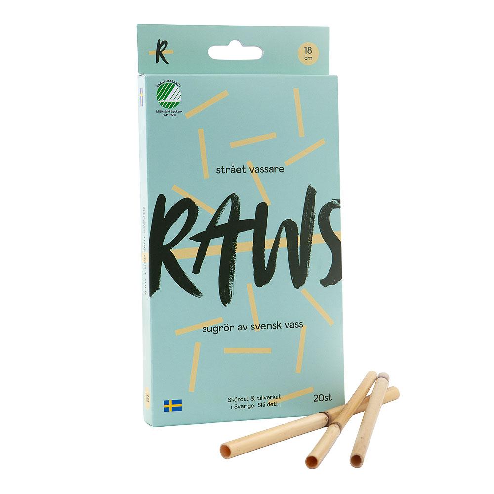 Raws Sugrör Vass 20-pack