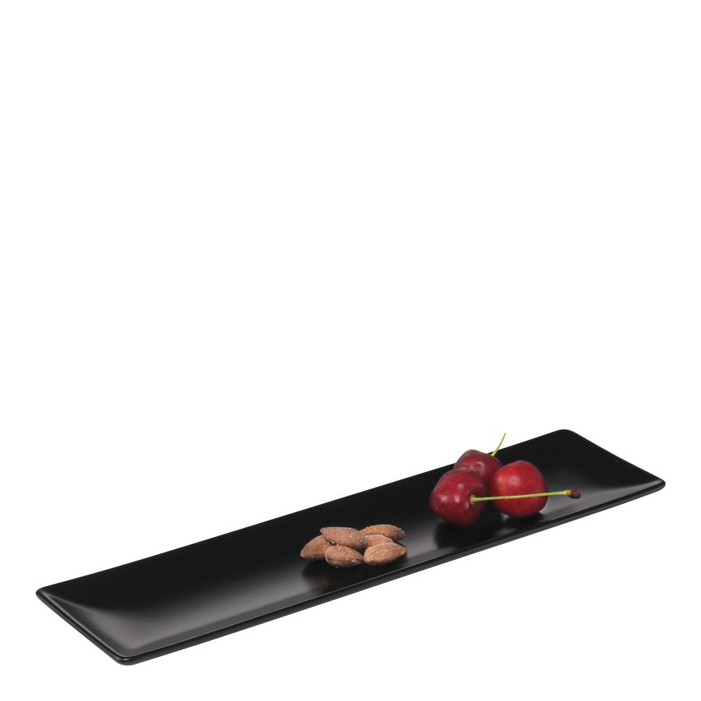 Quadro Tallrik flat 30x8 cm Svart matt