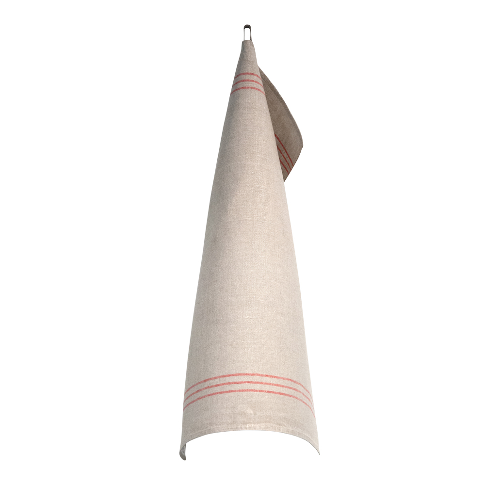 Handduk 50x70 cm Röd/Oblekt