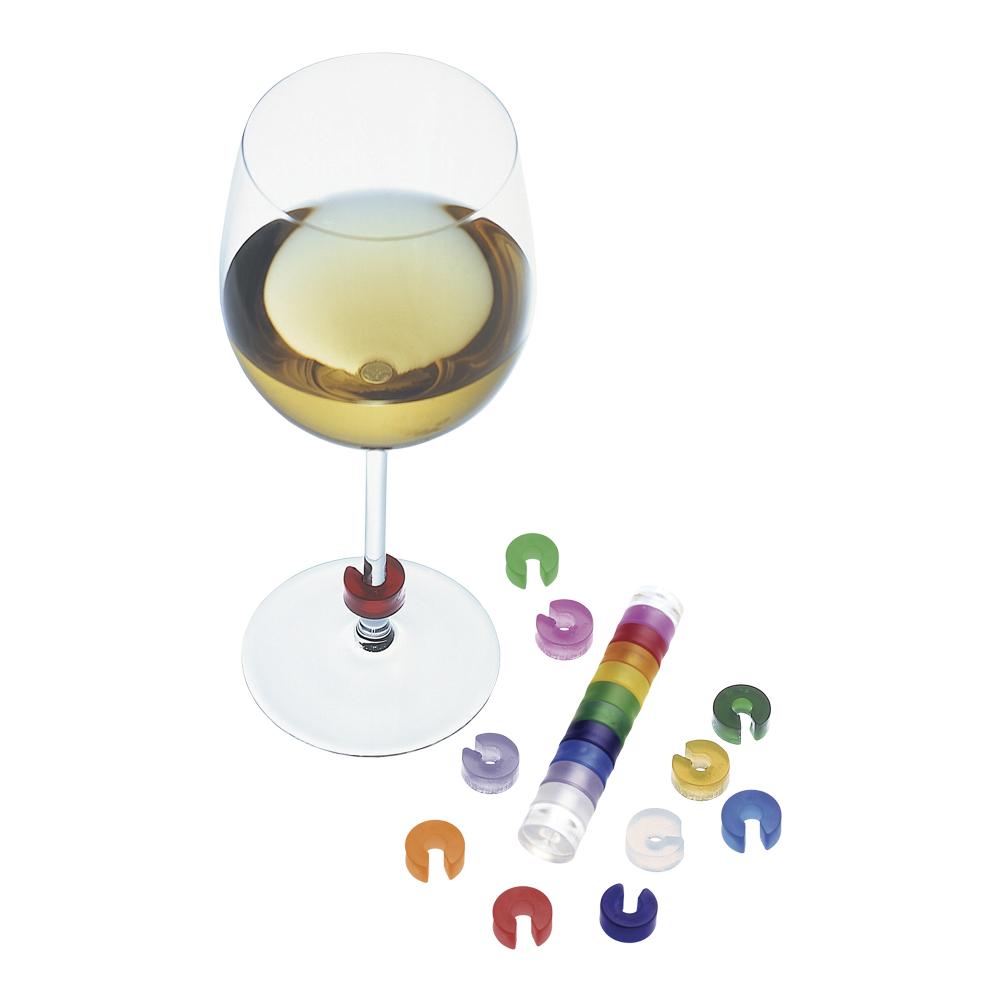 Färgkod till vinglas 10-pack