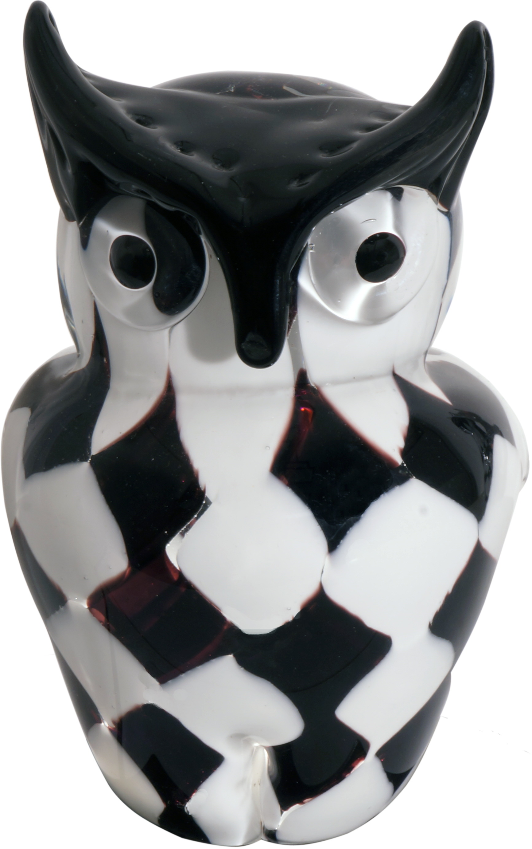 Glasskulpturer Chess Owl 17 cm