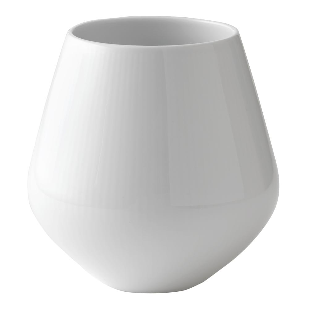 White Fluted Vas 15 cm