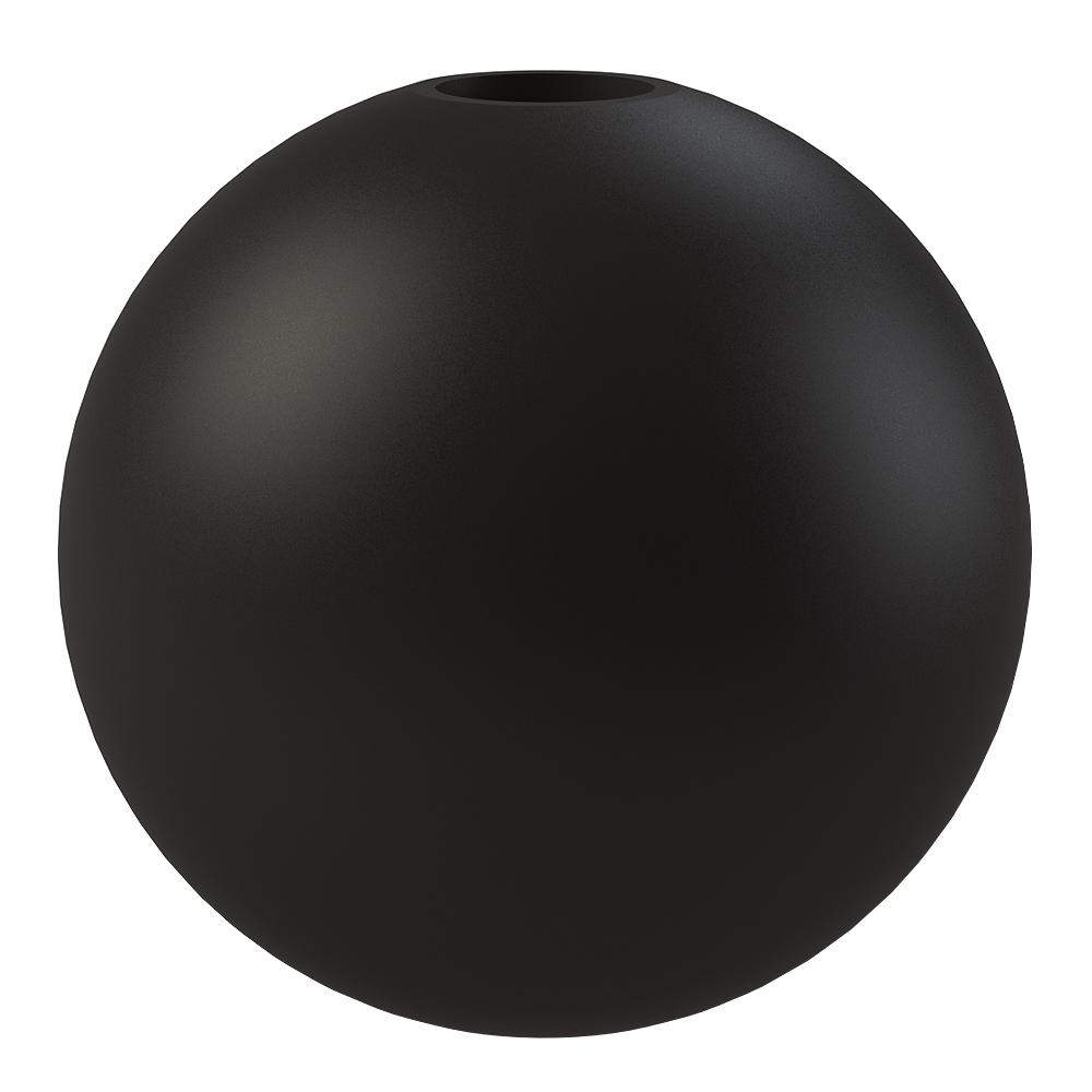 Ball Ljusstake 10 cm Svart