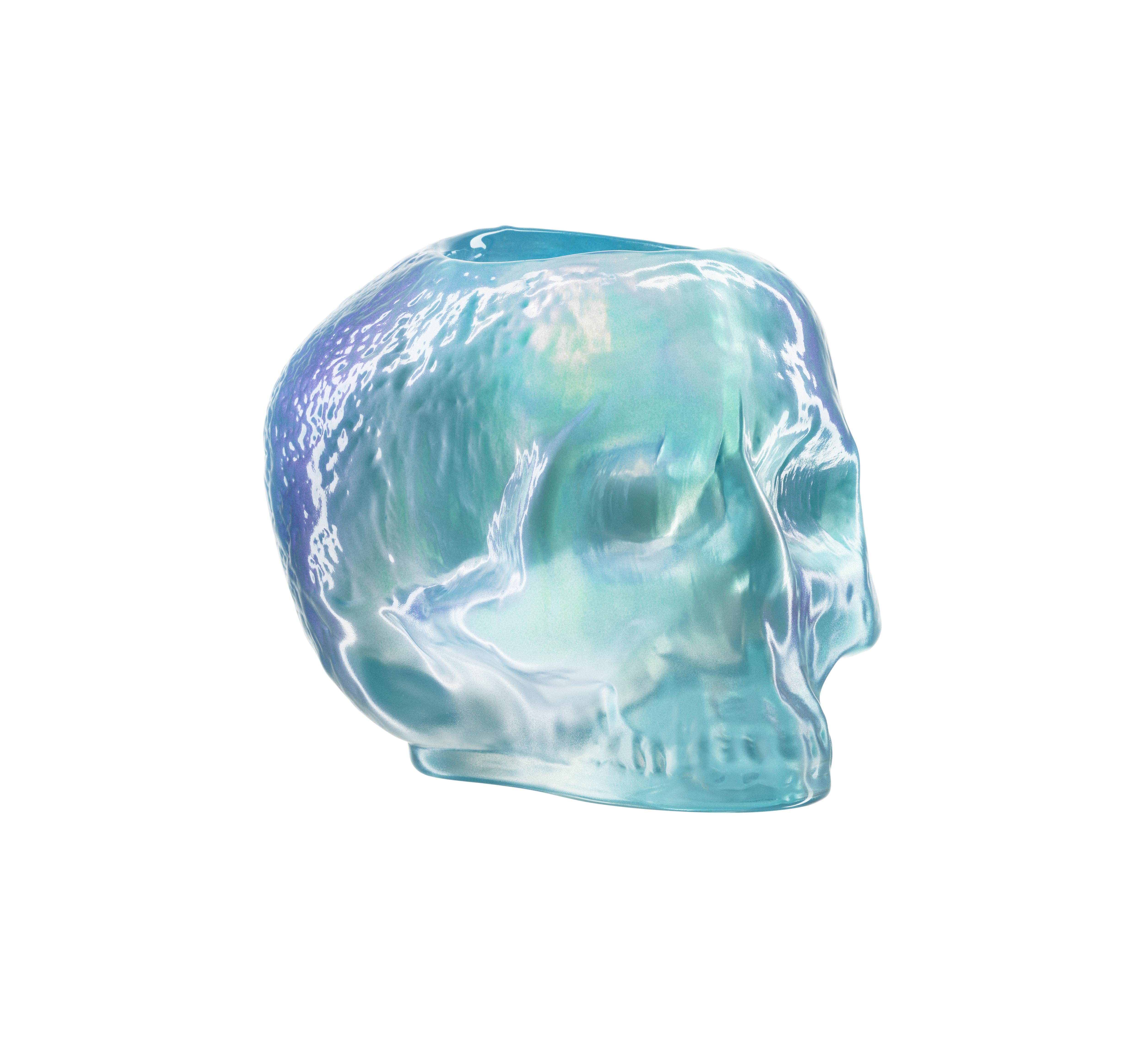 Still Life Lykta Skull 11,5 cm Ljusblå