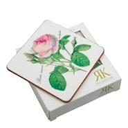 Redoute Roses Glasunderlägg 10,5x10,5 cm 6-pack