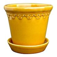 Köpenhavner Kruka/fat 14 cm Gul amber