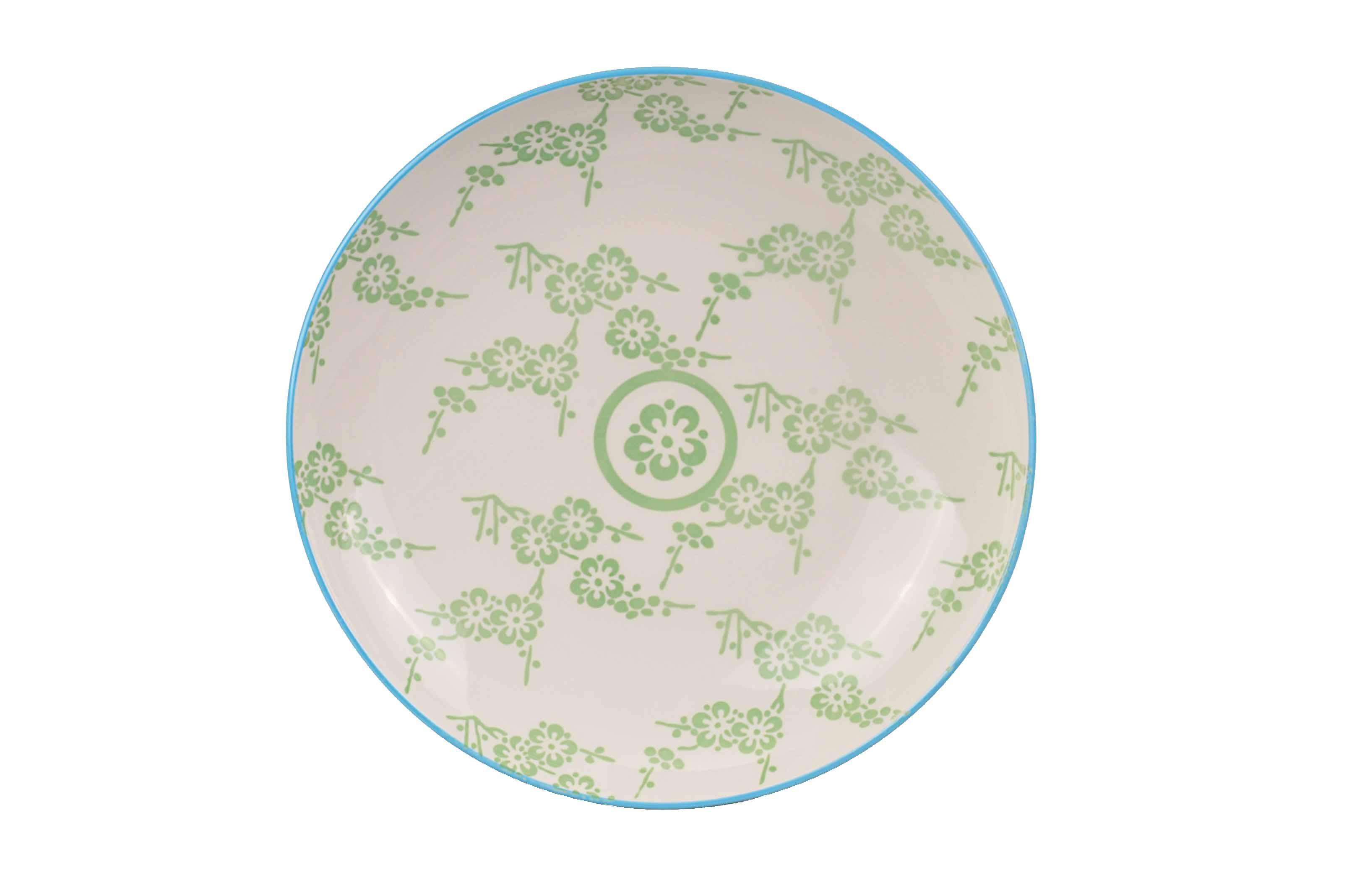 Oriental Tallrik 21,5 cm Vit/Grön