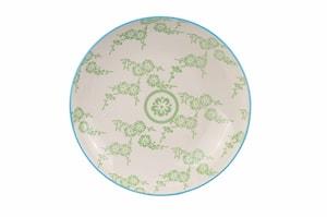 Oriental Tallrik 21,5 cm Vit & Grön