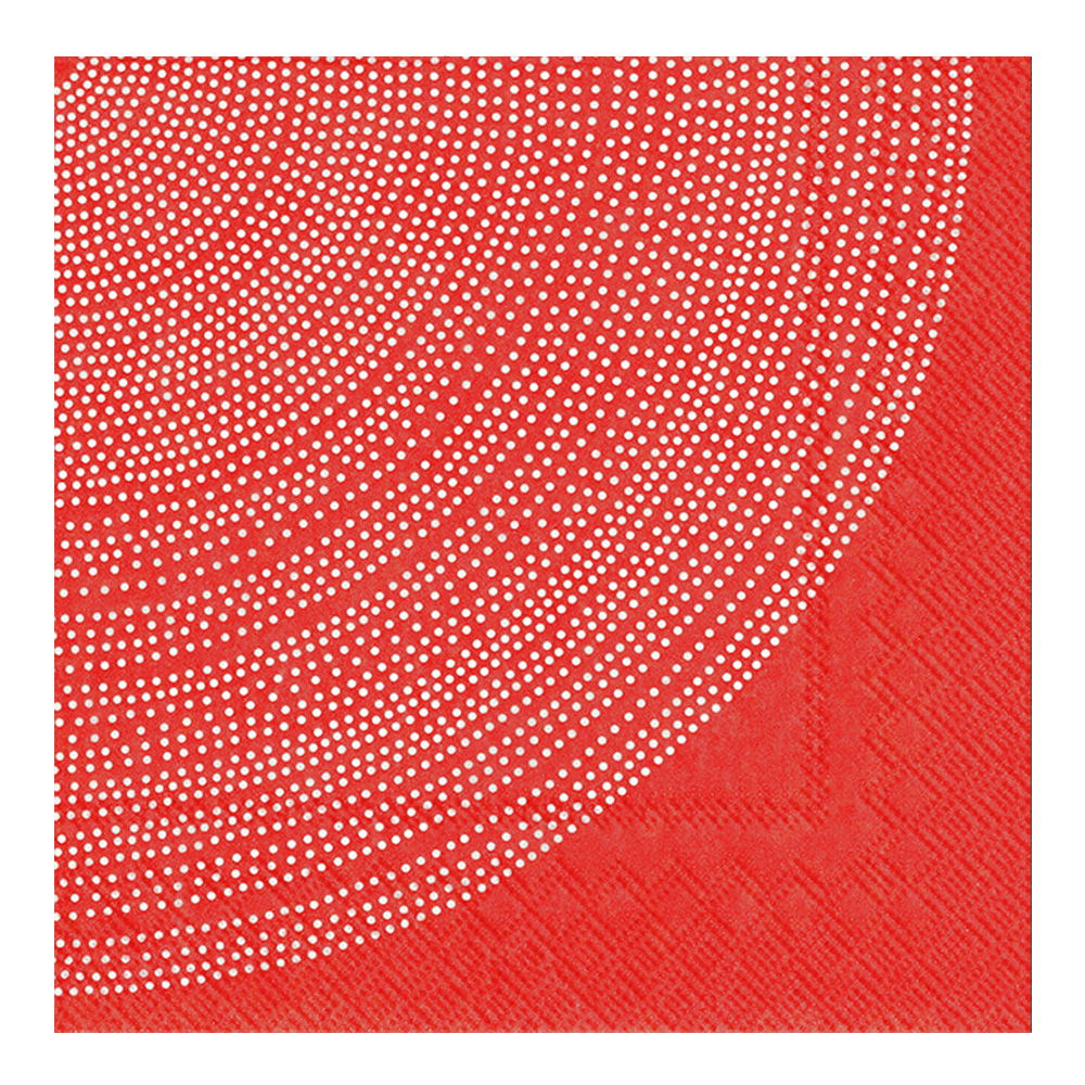 Marimekko Servett Lumimarja 33×33 cm Röd