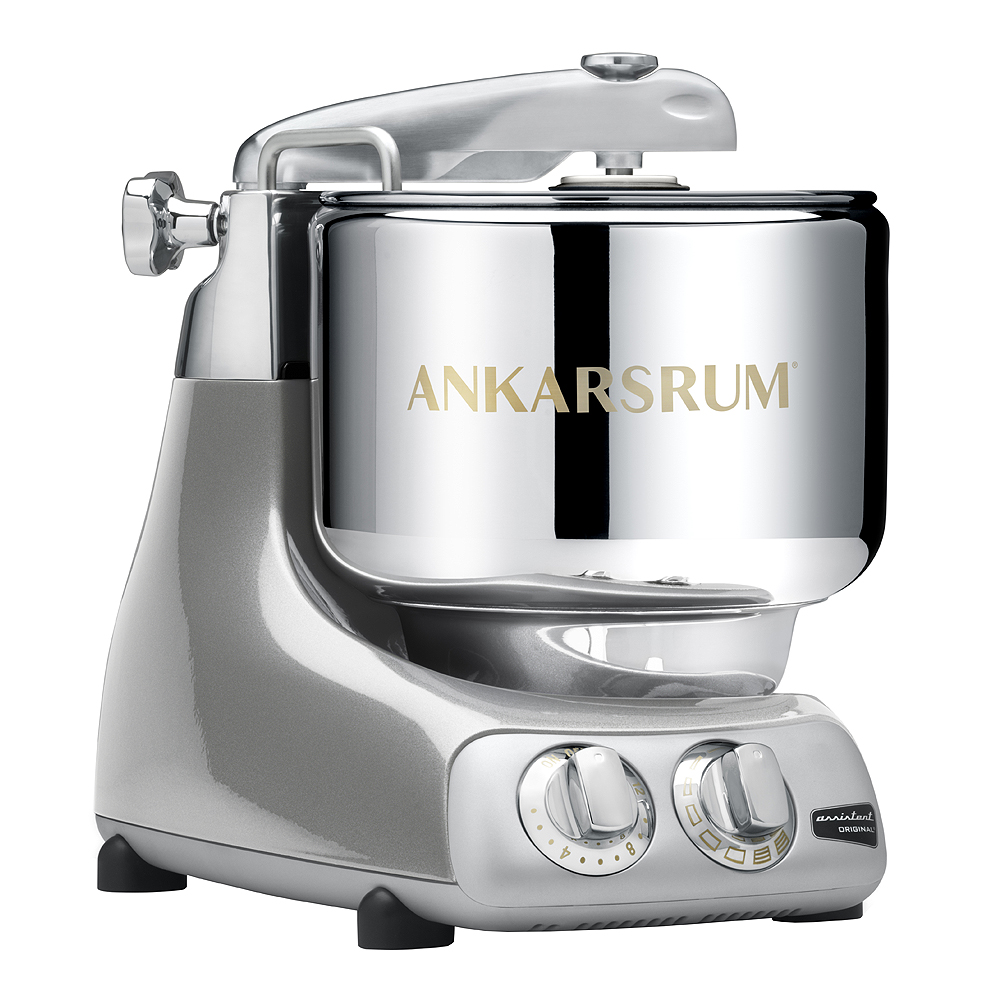 Ankarsrum Assistent Original Köksmaskin + Kokbok Jubilee Silver
