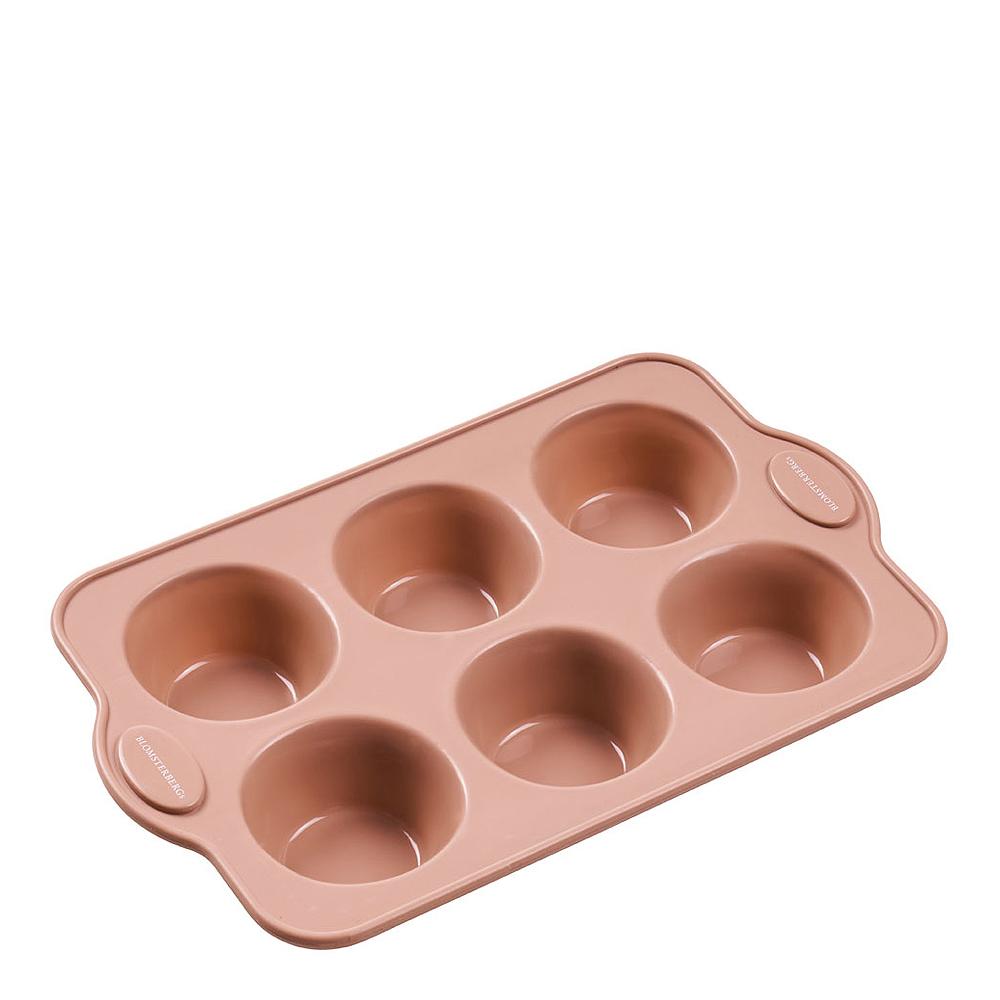 Muffinsform Silikon 6 st Rosa