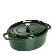Gryta 6,7 L oval Grön
