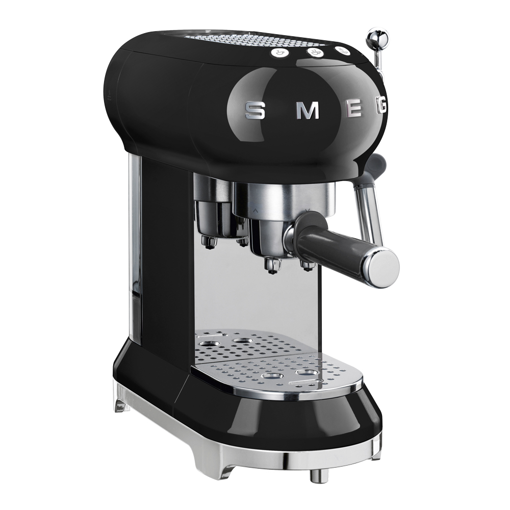 Retro Espressomaskin Svart
