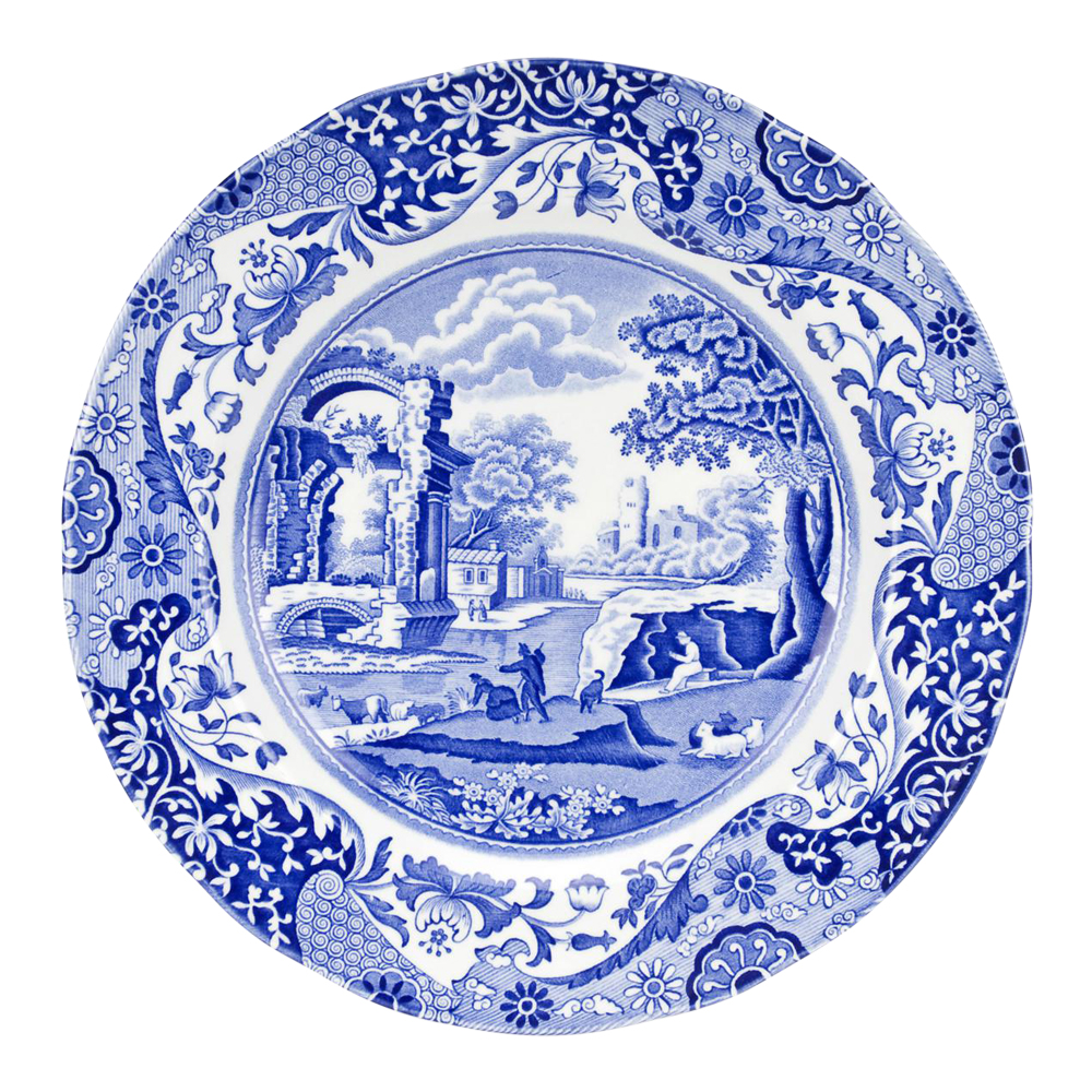 Blue Italian Tallrik flat 27 cm