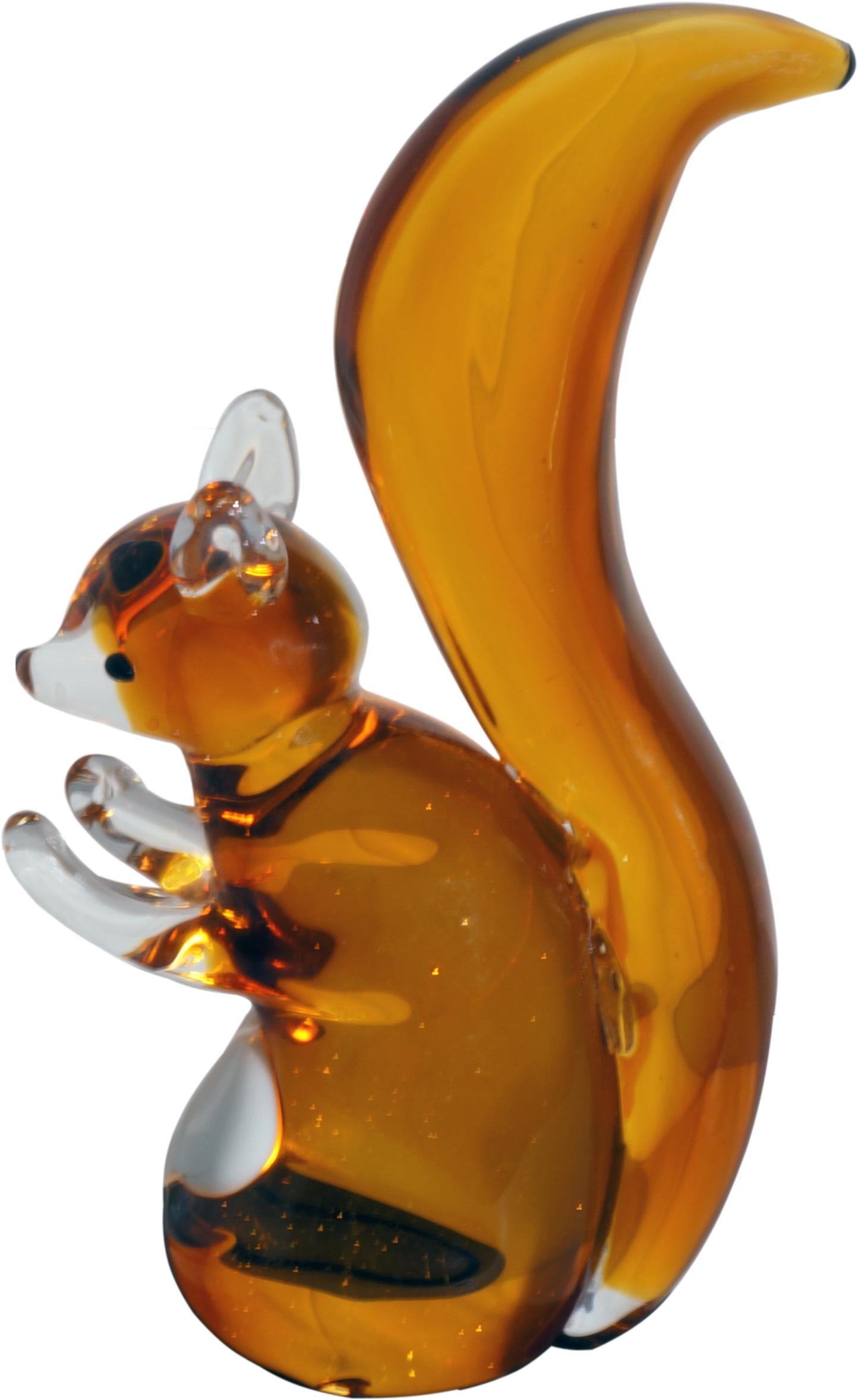 Glasskulpturer Ekorre 20 cm