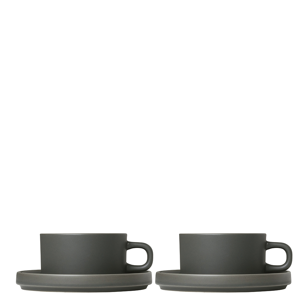 Pilar Temugg med fat 2-pack Pewter