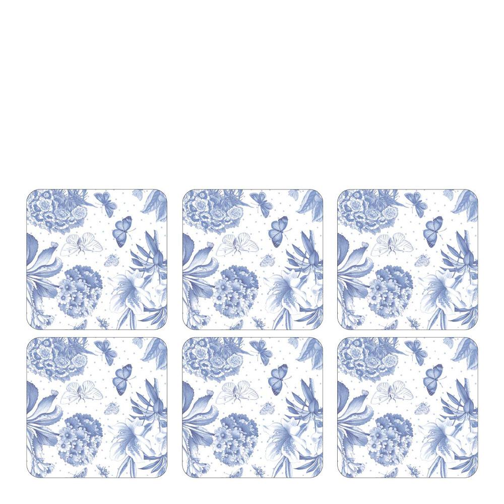 Botanic Blue Glasunderlägg 6-pack