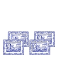 Blue Italian Bordstablett 4-pack