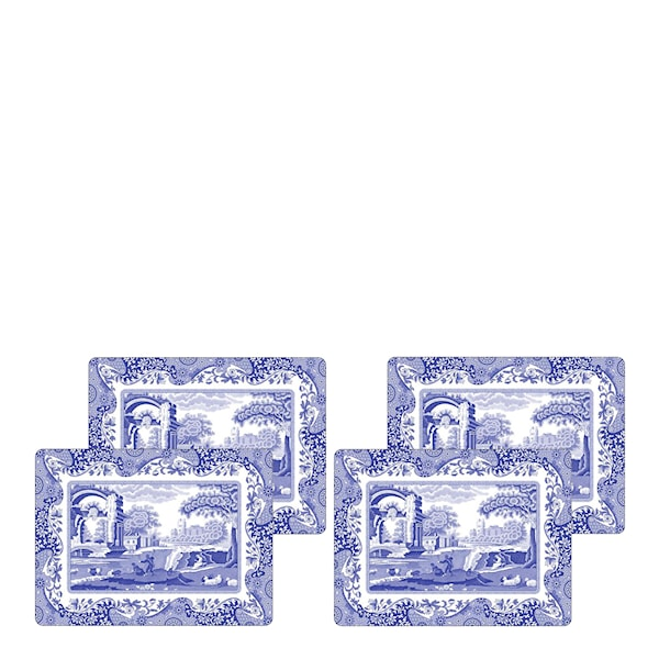 Blue Italian Bordstablett 4-pack