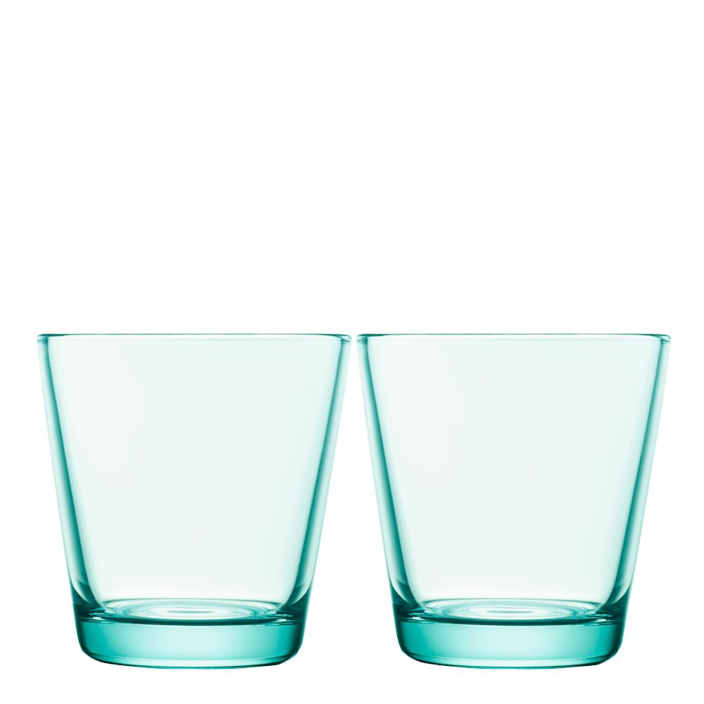 Kartio Glas 21 cl 2-pack Vattengrön