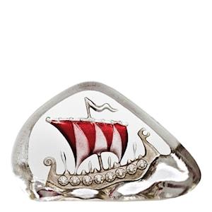 Sweden Vikingaskepp miniatyr Röd