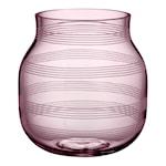 Omaggio Vas 17 cm Transparent Plum