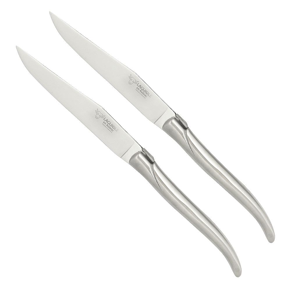 Stekkniv 2-pack Rostfri matt